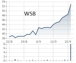Diễn biến giao dịch WSB trong 1 tháng qua