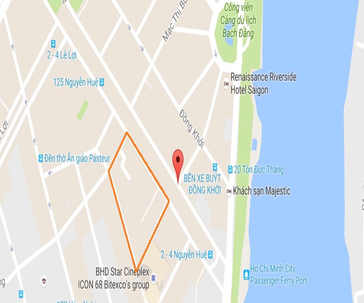 Vị trí khu đất tứ giác vàng trên đường Nguyễn Huệ bất cư công ty địa ốc nào cũng thèm muốn
