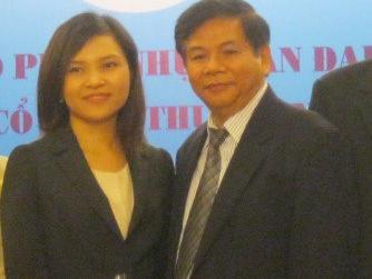 Bà Diễm Hương và ông Phạm Trung Cang