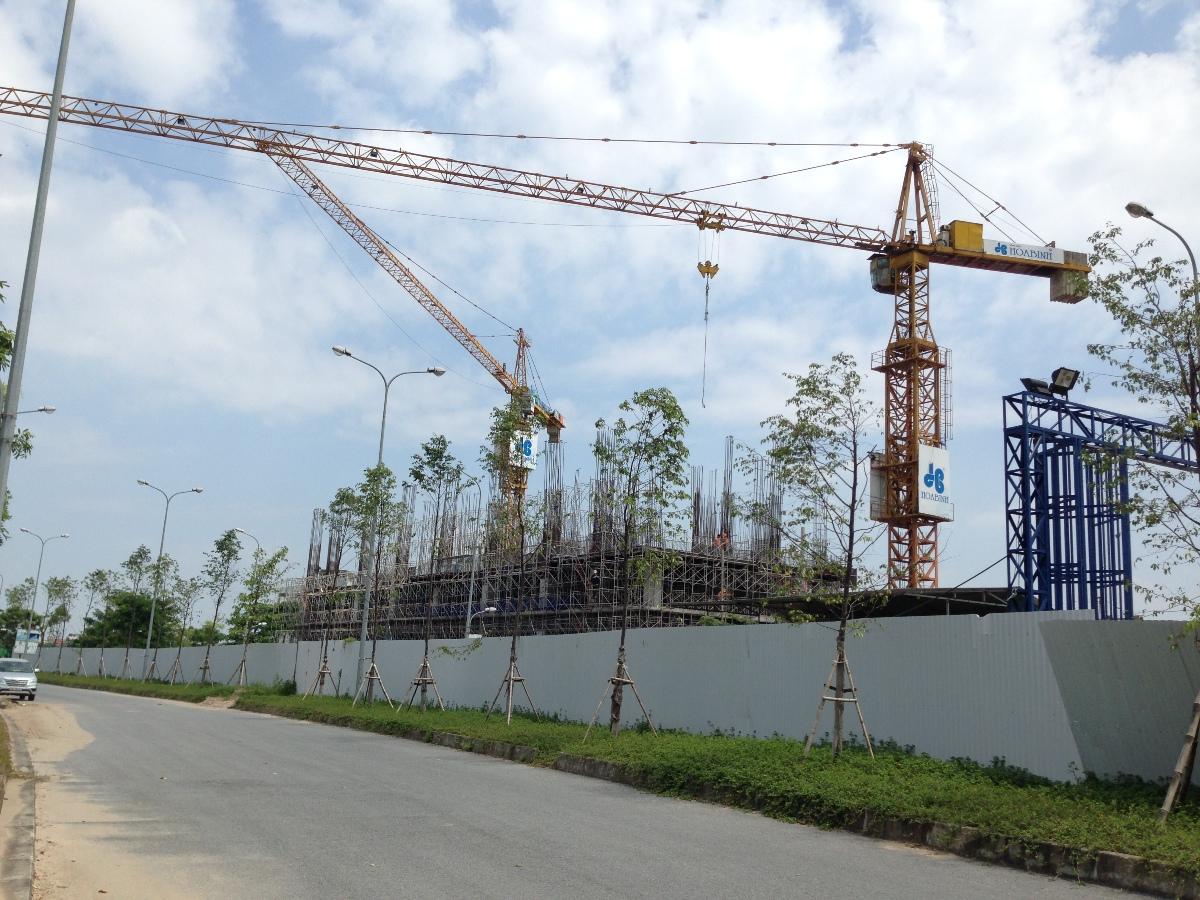 Hiện tại công trình đang xây dựng phần thân đến tầng 3.