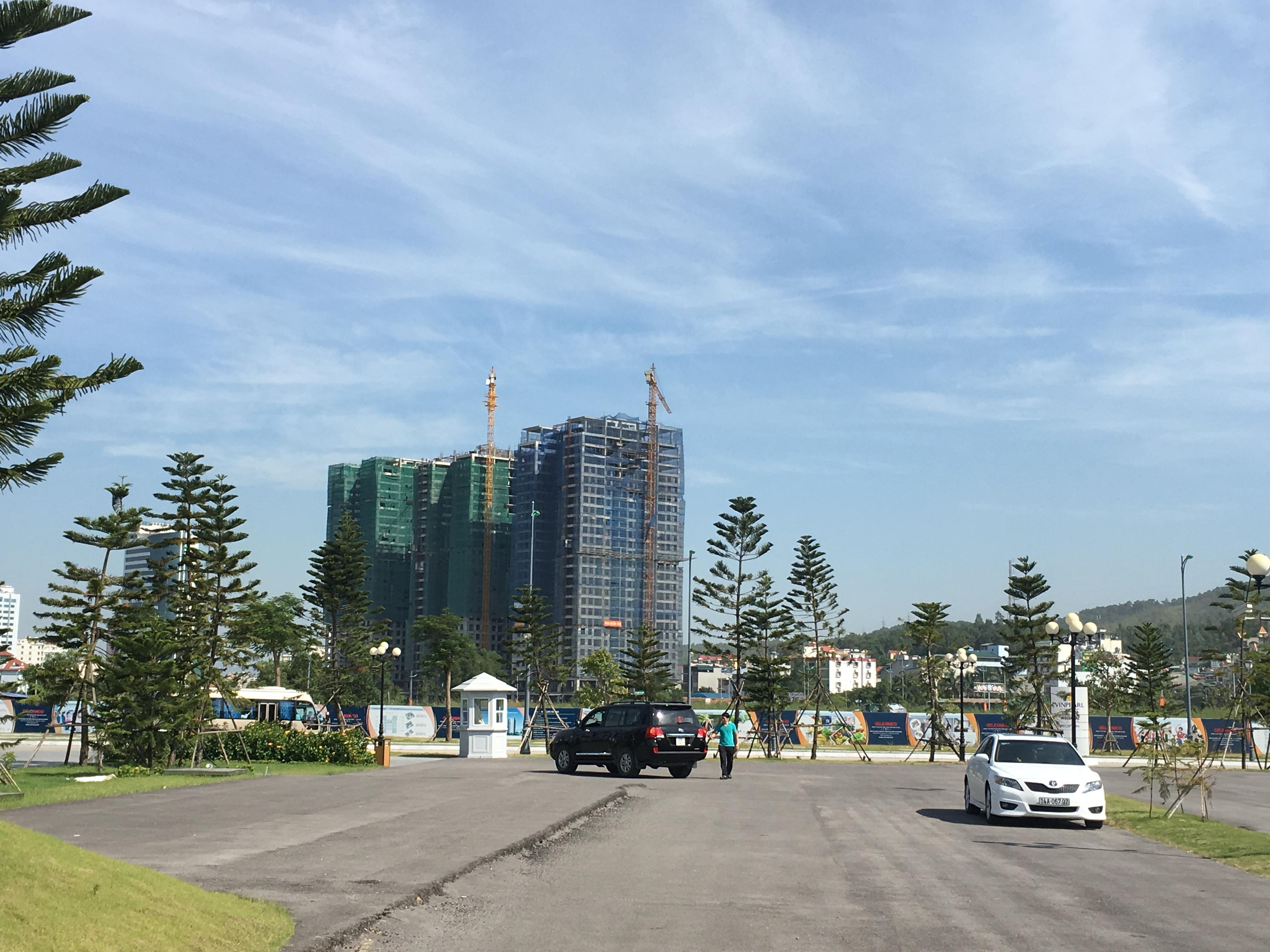 Tổ hợp chung cư của Geleximco đang xây dựng.