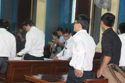 Phiên tòa xét xử Hoa hậu Phương Nga ngày 21/9 qua. Ảnh: Tân Châu