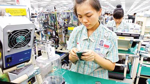 Dây chuyền sản xuất của Samsung Việt Nam.