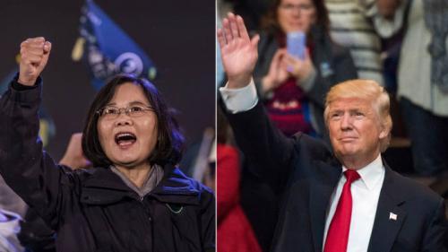Bà Thái Anh Văn và ông Trump. Ảnh: Zero Hedge