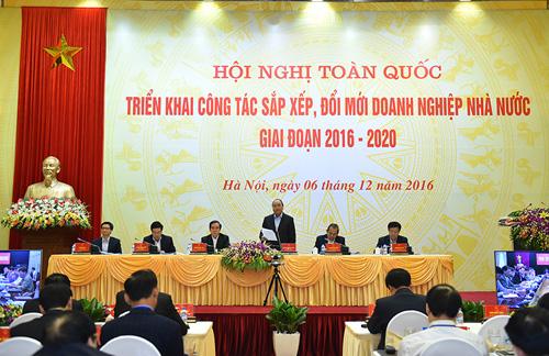 Thủ tướng chủ trì hội nghị triển khai công tác sắp xếp, đổi mới DNNN