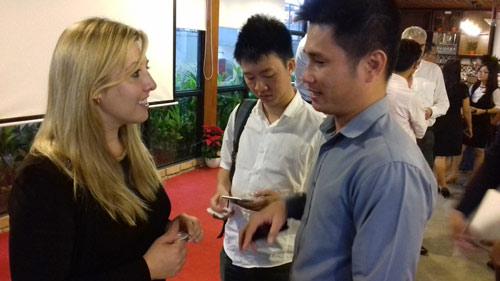 Victoria Lennox tại buổi nói chuyện với cộng đồng khởi nghiệp ở TP.HCM.