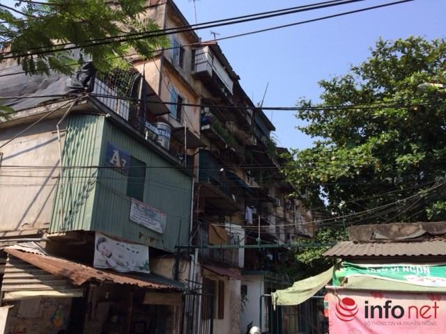 Chung cư A7 nằm trên phố Nguyễn Chính (Tân Mai, Hoàng Mai, Hà Nội) đã được sử dụng 32 năm.