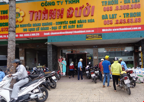 Trụ sở của hãng xe Thành Bưởi ở 266-268 Lê Hồng Phong, phường 4, quận 5.