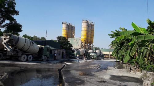 Trạm trộn bê tông của Công ty CP Đầu tư và xây dựng Việt Hàn.