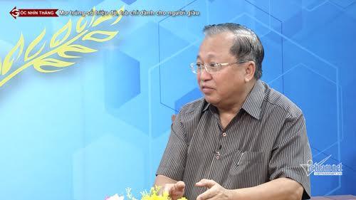 GS Hà Tôn Vinh trong một cuộc trả lời phỏng vấn báo VietNamNet