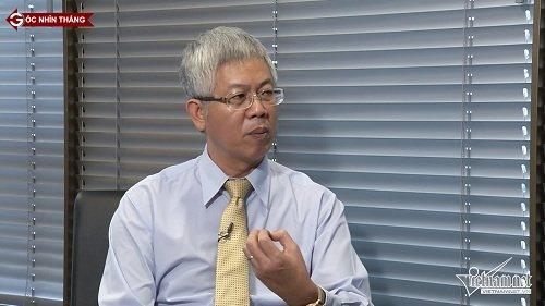 TS Nguyễn Đức Kiên, Phó Chủ nhiệm Uỷ ban Kinh tế của Quốc hội trao đổi trong chương trình Góc nhìn thẳng (ảnh: VietNamNet)