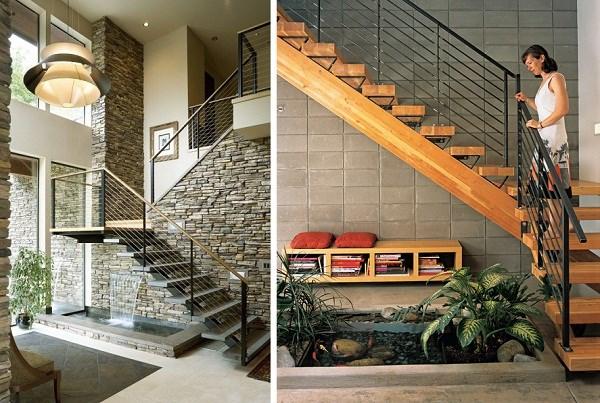 Việc bố trí hồ nước có thể được đặt tại nhiều vị trí khác nhau tùy vào thiết kế từng ngôi nhà sao cho hài hòa.