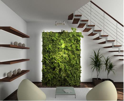 Những bức tường cây xanh trong nhà vừa giúp làm đẹp không gian sống, vừa đem lại cảm giác mát mẻ, thư giãn cho các thành viên trong gia đình.