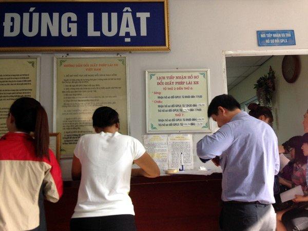 Phòng tiếp nhận hồ sơ đổi GPLX của Tổng cục Đường bộ VN