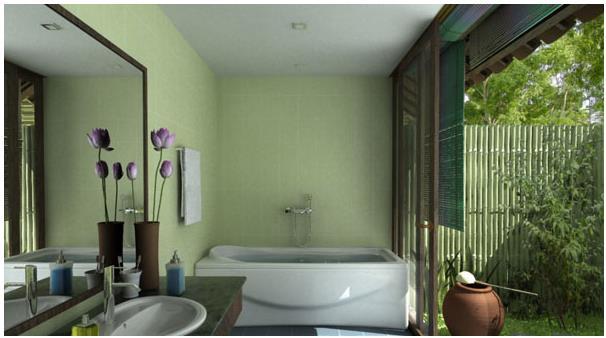 Phòng tắm mang đậm phong cách đồng quê, giúp bạn như được trở về với những ký ức của thời thơ ấu.