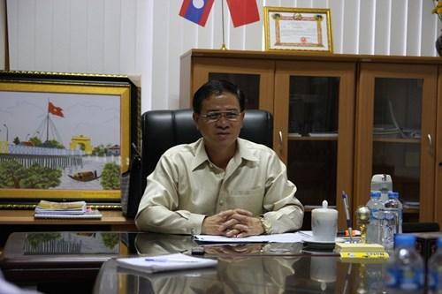 Phó Chủ tịch tỉnh Attapeu Ounla Xayasith. Ảnh: Nghi Điền