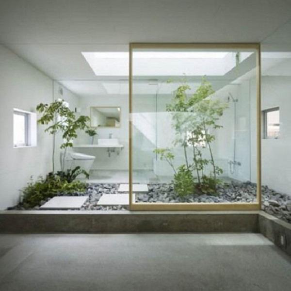 Việc tạo khoảng không xanh mát tự nhiên cho nhà tắm ngay trong nhà cũng đang được rất nhiều người lựa chọn.
