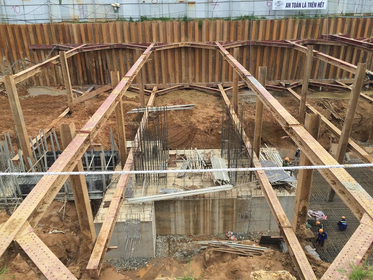 Tại các tòa CT2 và CT3 đang bắt đầu triển khai phần hầm.