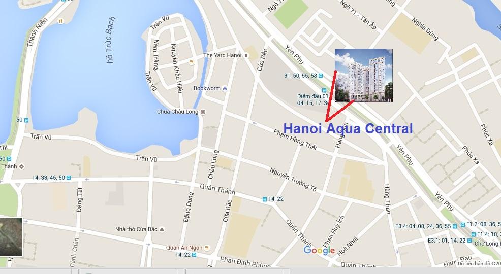 Hanoi Aqua Central có vị trí khá gần với Hồ Tây.