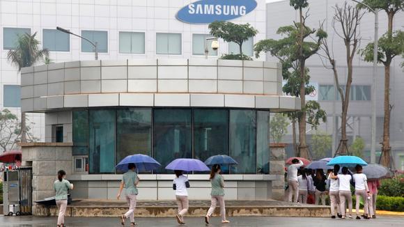 Một nhà máy Samsung ở miền Bắc Việt Nam (ảnh: Reuters)