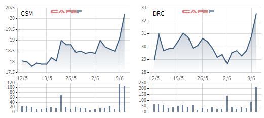 Cổ phiếu săm lốp đang hút tiền mạnh trong những phiên gần đây