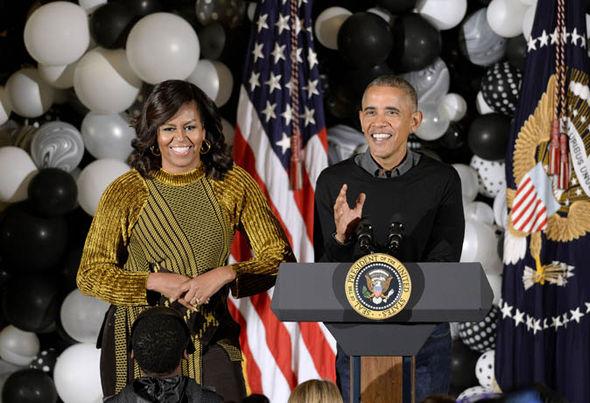 Tổng thống Barack Obama và vợ, Đệ nhất phu nhân Michelle Obama.