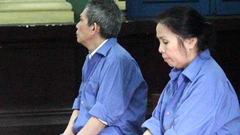 Vợ chồng bị cáo Lã Thị Thùy Vân