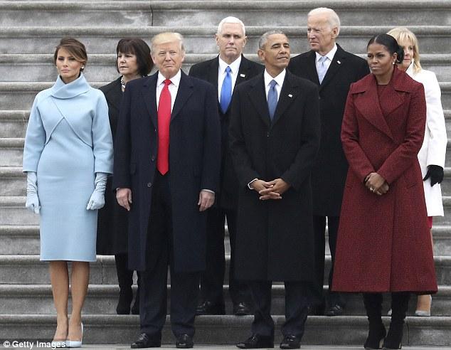 Hai phu nhân Tổng thống trong ngày chuyển giao quyền lực.