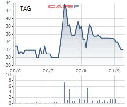 Biến động giá cổ phiếu TAG trong 3 tháng