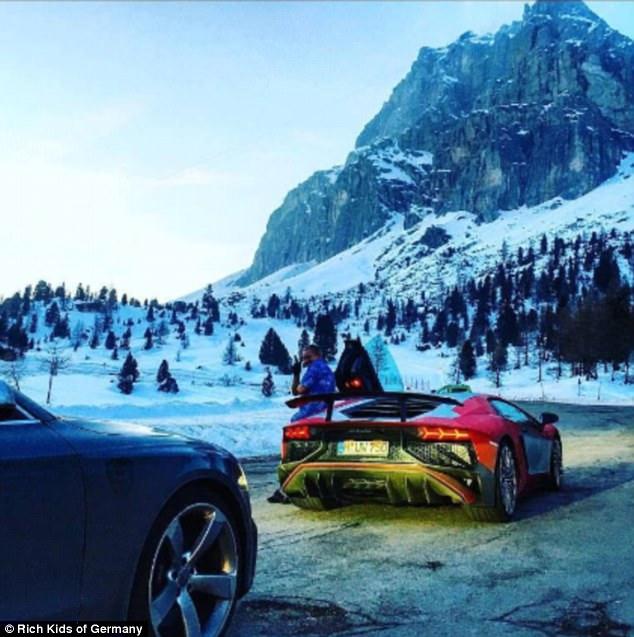 Nhiều người sẽ phải trầm trồ khi chứng kiến những chiếc siêu xe của các thiếu gia, tiểu thư nhà giàu Đức dạo chơi tại những thắng cảnh tuyệt đẹp.