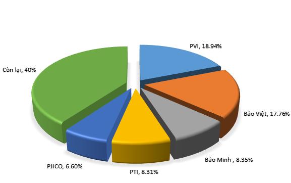 5 DNBH phi nhân thọ chiếm lĩnh 60% thị phần.