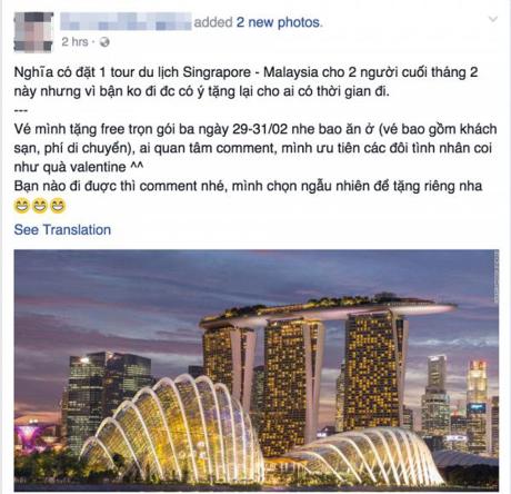 Hàng loạt lời mời tặng hấp dẫn được chia sẻ khắp facebook.