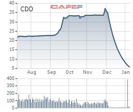 Chuỗi giảm sàn 25 phiên liên tiếp của cổ phiếu CDO đã tạo nên kỷ lục quá buồn cho thị trường chứng khoán Việt những ngày tết đến xuân về