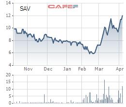 Cổ phiếu SAV tăng gấp đôi chỉ trong thời gian ngắn