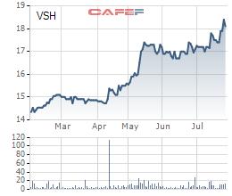 Diễn biến cổ phiếu VSH trong 6 tháng gần nhất