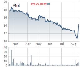 Biến động bất ngờ tại cổ phiếu VNB của CTCP Sách Việt Nam: Tăng gần 44% trong vòng 4 phiên