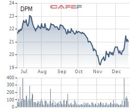 Biến động giá cổ phiếu DPM trong 6 tháng