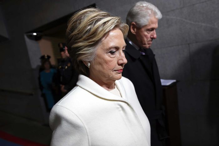 Bà Hillary Clinton và chồng cũng có mặt.