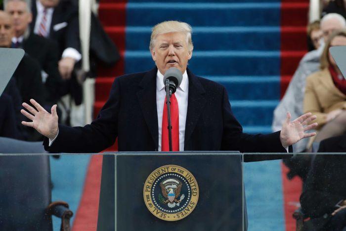 Ông Trump có bài diễn văn nhậm chức.