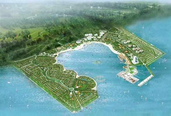 Phối cảnh dự án khu du lịch lấn biển Cần Giờ của Tập đoàn Vingroup.