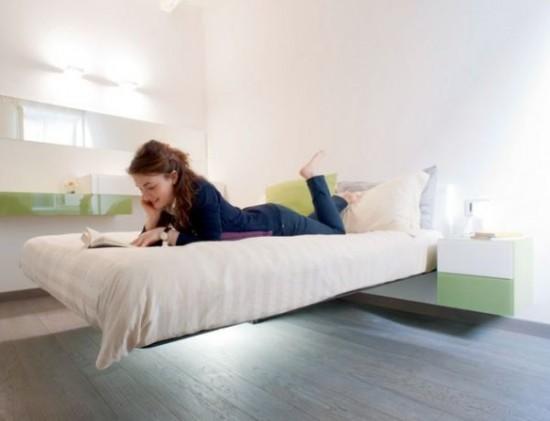 Mặc dù vậy, khi thiết kế giường nổi, bạn cần chú ý đến vấn đề chịu lực cho các tấm ván đầu giường, thanh đỡ kết hợp với vật liệu nhẹ nhưng có khả năng chịu lực cao sẽ là một ý tưởng hoàn hảo.