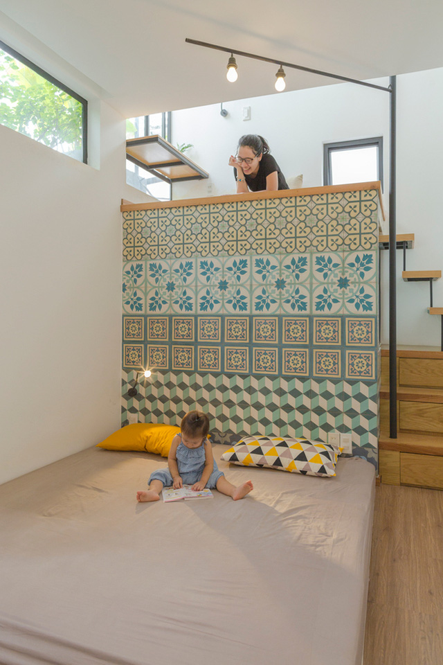 Phòng ngủ dành cho khách và tương lại là phòng riêng của con được bố trí trên tầng 3 tuyệt đẹp.