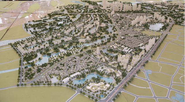 Khu đô thị mang dáng dấp một đô thị hiện đại đa chức năng, môi trường sống sinh thái, an lành.