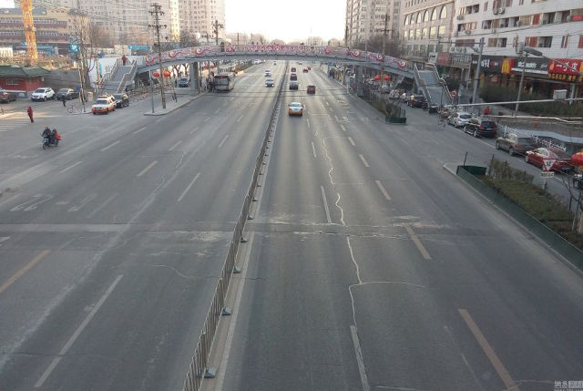 Đường phố Bắc Kinh trong ngày tết.