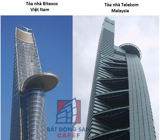 Quan sát kỹ phần đỉnh của hai tòa tháp dễ dàng thấy sự khác biệt trong từng chi tiết.