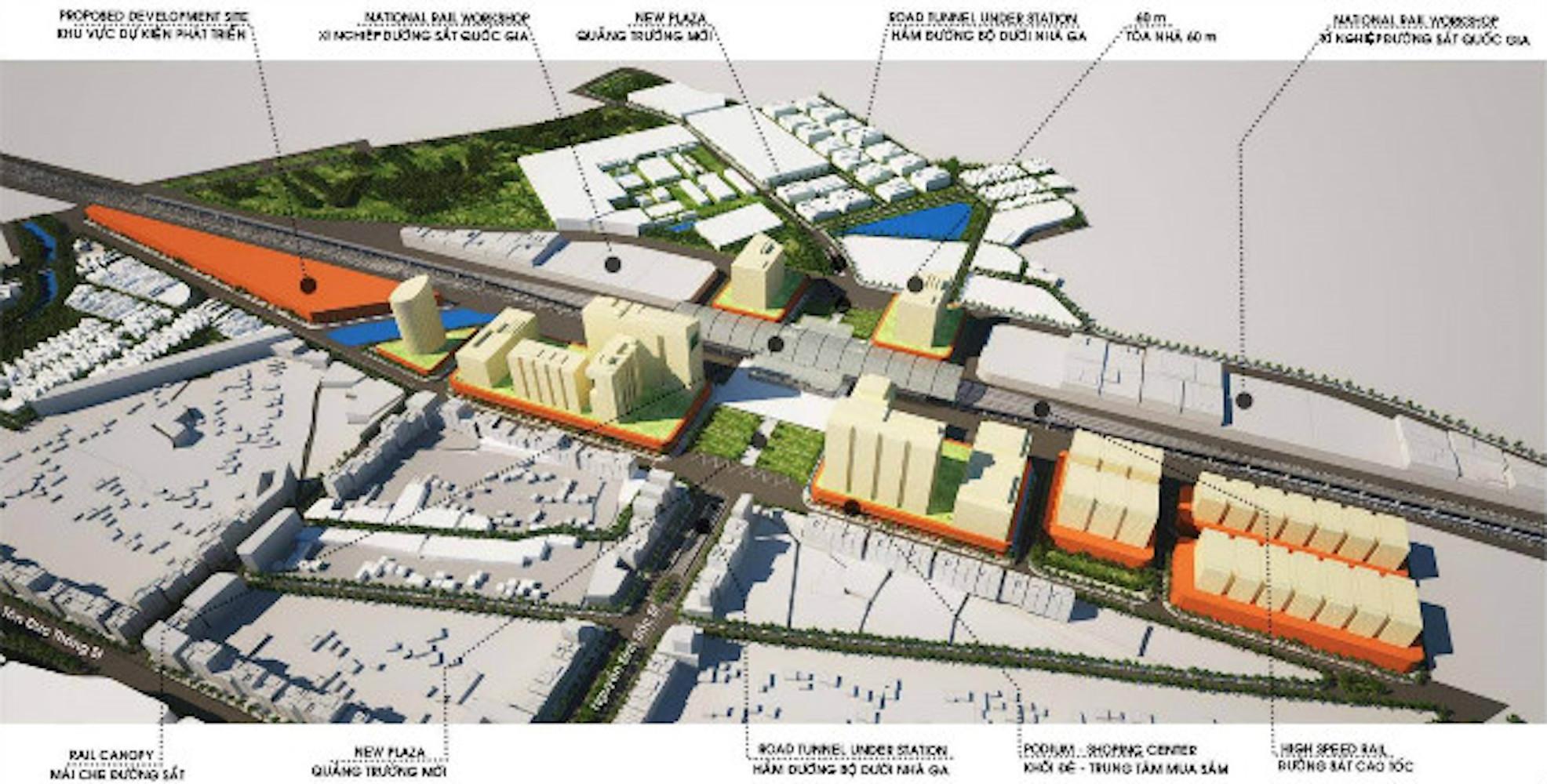 Mô hình phối cảnh nhà ga đường sắt mới