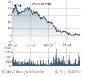 Biến động giá cổ phiếu HAG trong 3 năm trở lại đây