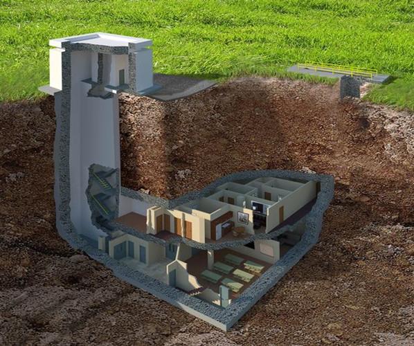 Căn hầm này được xây dựng từ lâu, giờ được nâng cấp để phù hợp với tiêu chuẩn hiện đại để phục vụ giới siêu giàu.