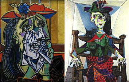 """Dora Maar là nàng thơ nước mắt của Picasso. Đây là bức tranh """"Dora Maar au chat"""" (Nàng Dora với chú mèo) được đấu giá 95.2 triệu USD tại nhà đấu giá Sotheby's năm 2006."""