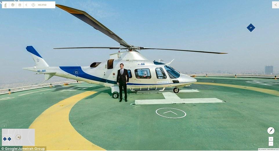 Khách sạn có một sân golf trên cao, phục vụ nhu cầu của các du khách thượng lưu. Đôi khi nó được sử dụng như một sân đáp máy bay trực thăng.